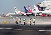Limpiando el aeropuerto