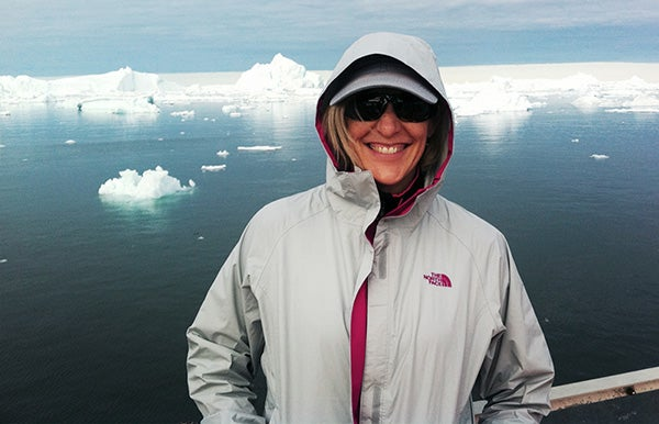 researcher in Greenland