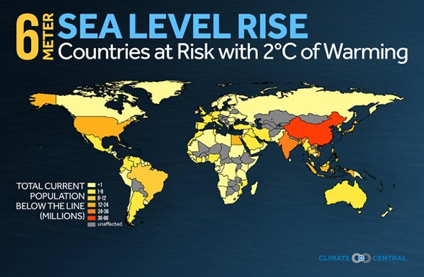 Florida Sea Level Rise Map.Sea Level Could Rise At Least 6 Meters Scientific American