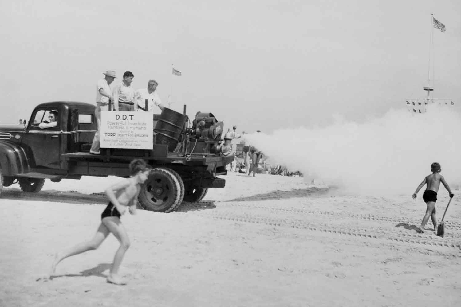 insecticidal fogging machine at Jones Beach