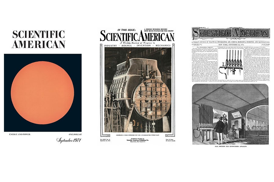 Old Scientific American covers.