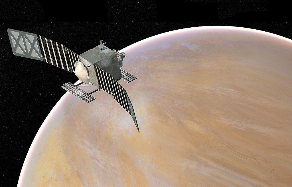 An illustration of the proposed VERITAS orbiter at Venus.