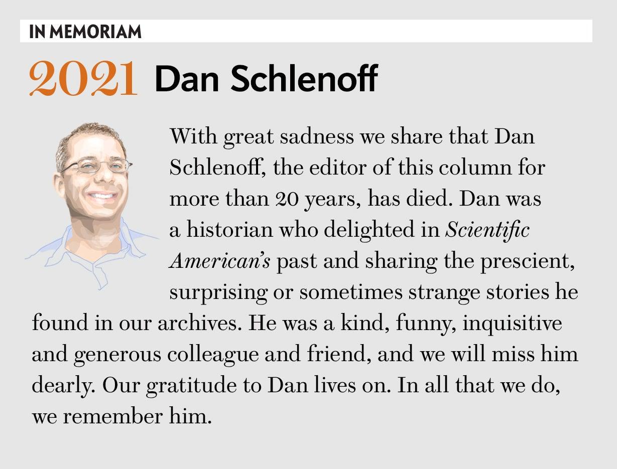IN MEMORIAM Dan Schlenoff