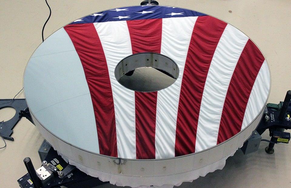 The primary mirror of the Nancy Grace Roman Space Telescope.