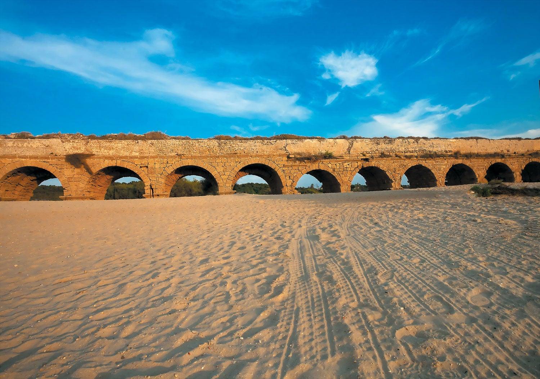 Aqueducts in the ancient city of Caesarea.