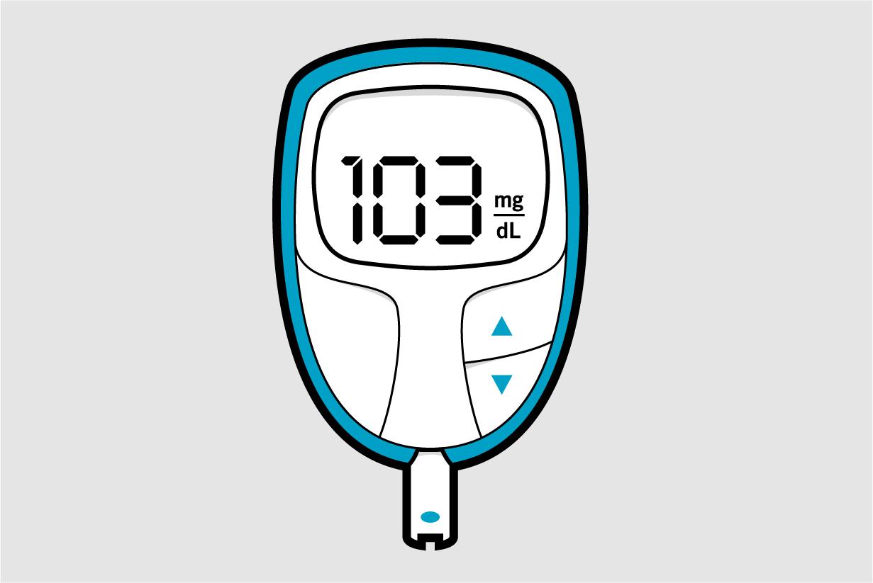 Illustration of a glucose meter.