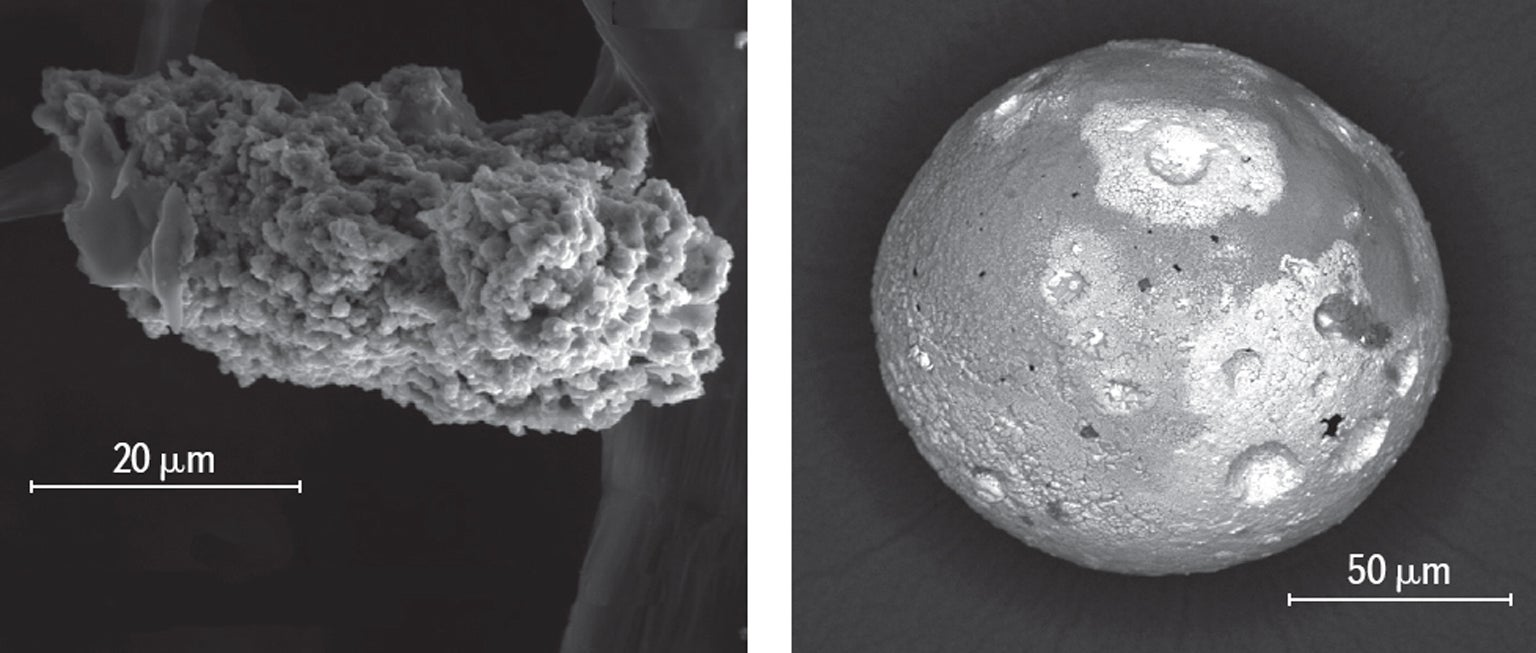 Antarctic micrometeorites.