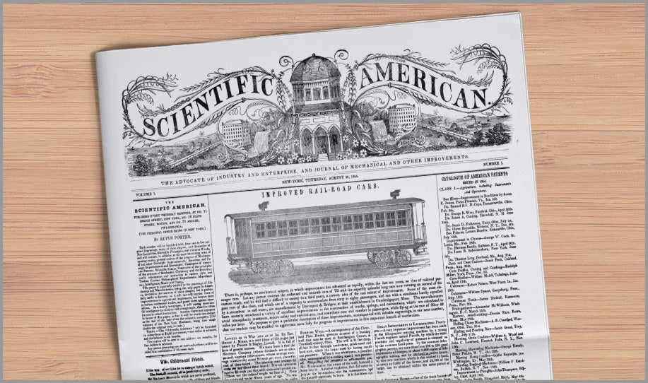 First issue of Scientific American