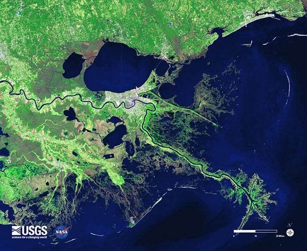 Mississippi River Mouth Must Be Abandoned To Save New Orleans From - Mississippi river delta map