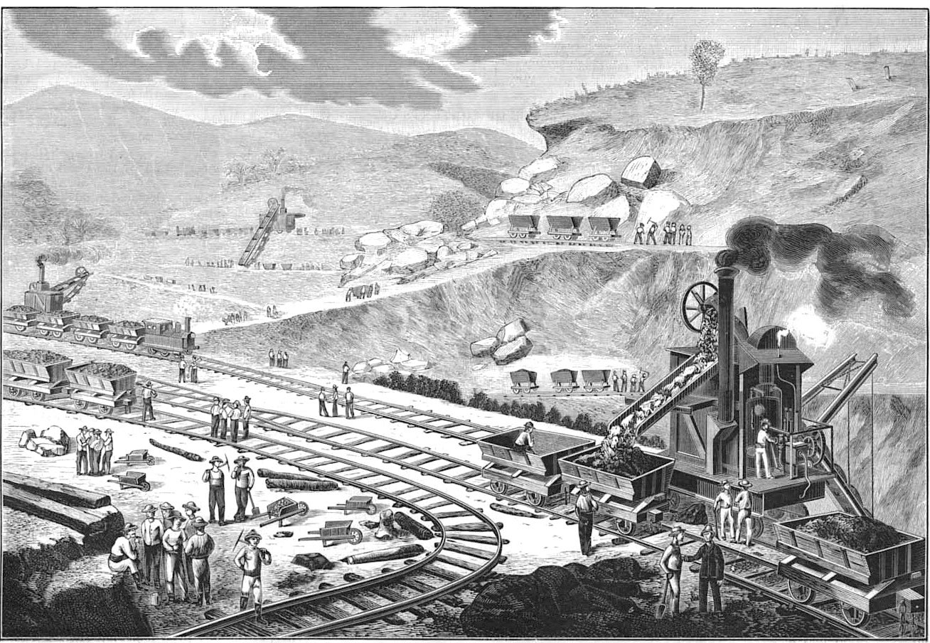 excavations on Panama Canal