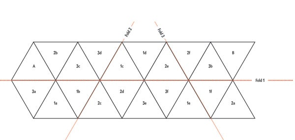 Make your own hexaflexagons and snap pictures of them for Hexahexaflexagon template