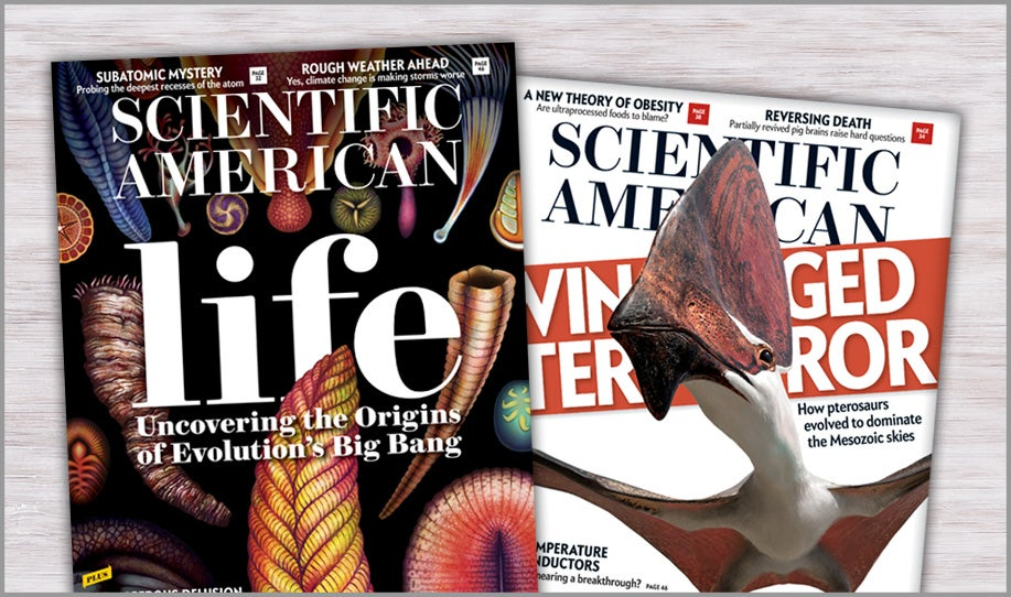 Print issues of Scientific American