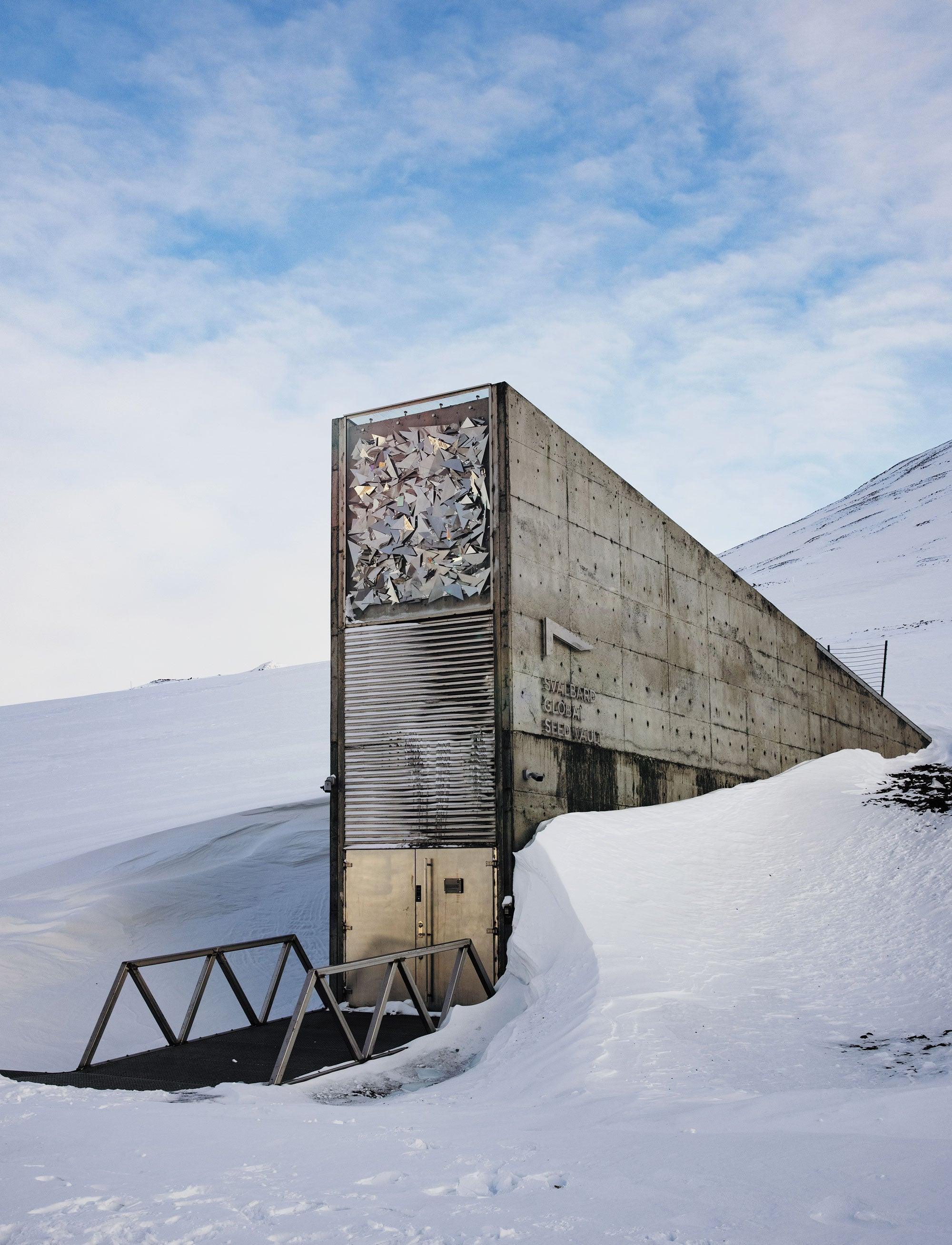 The Svalbard Global Seed Vault entrance