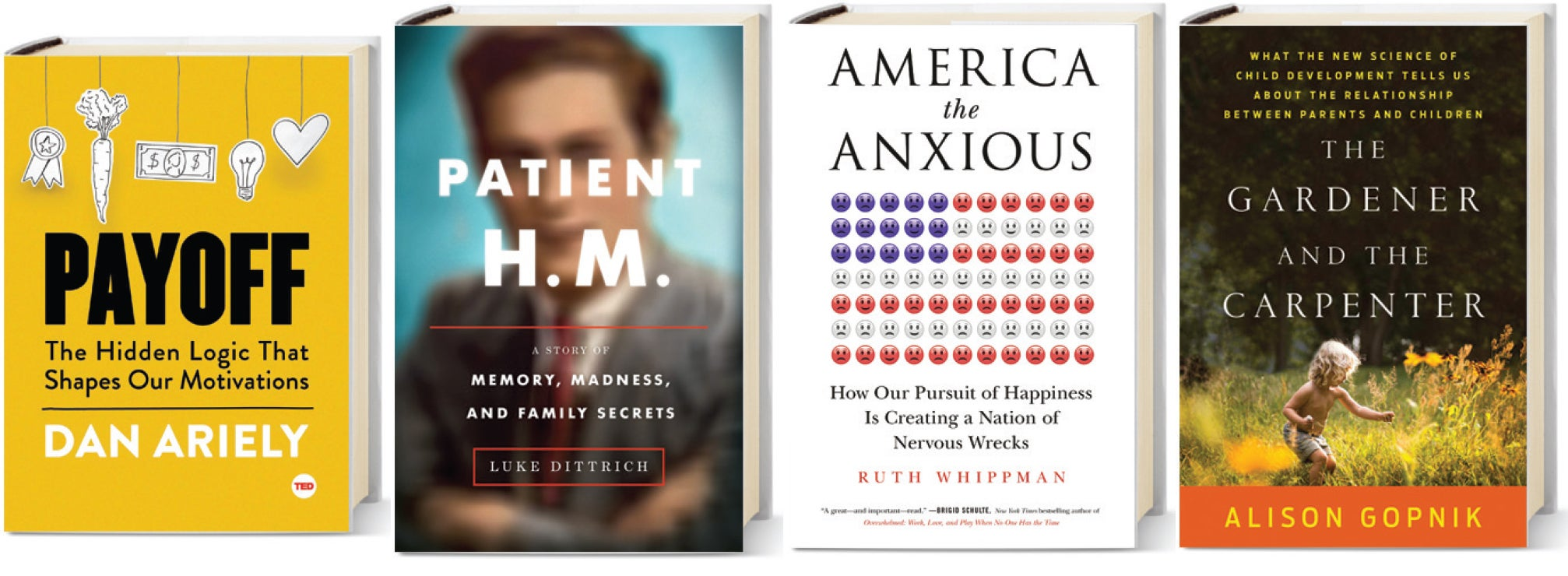 New Books about Motivation, Memory, Happiness and More Relaxed
