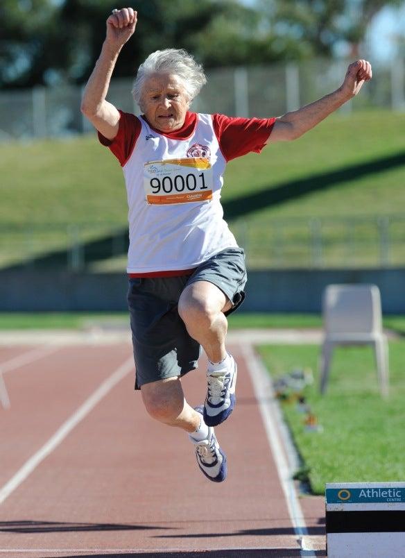 Olga running track
