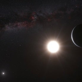 Exoplanet orbiting nearby star Alpha Centauri B