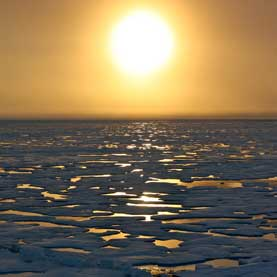 Sunset in the Arctic