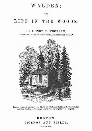 "title page of Thoreau's ""Walden"""