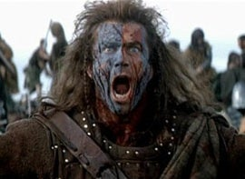 Mel Gibson in the film Braveheart