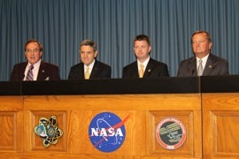 Kennedy Space Center officials at press conference