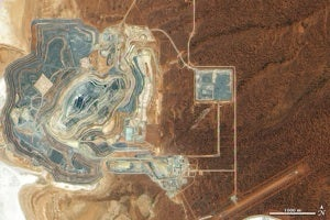 Sunrise Dam Gold Mine -- NASA satellite view