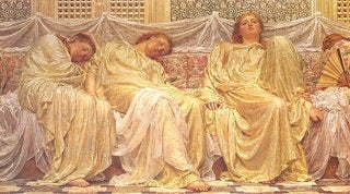 Painting by Albert Joseph Moore