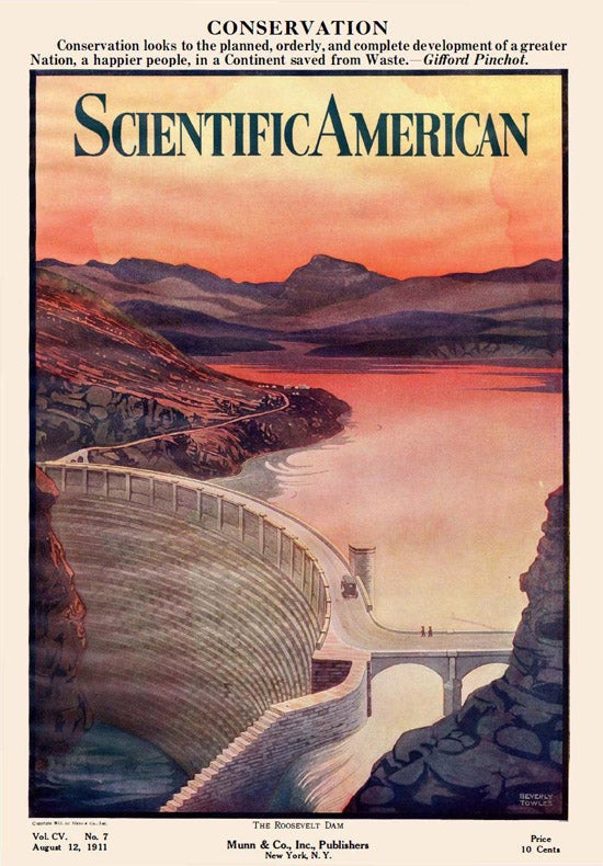 Scientific American magazine cover-Roosevelt Dam