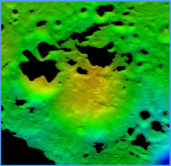 LCROSS impact crater site