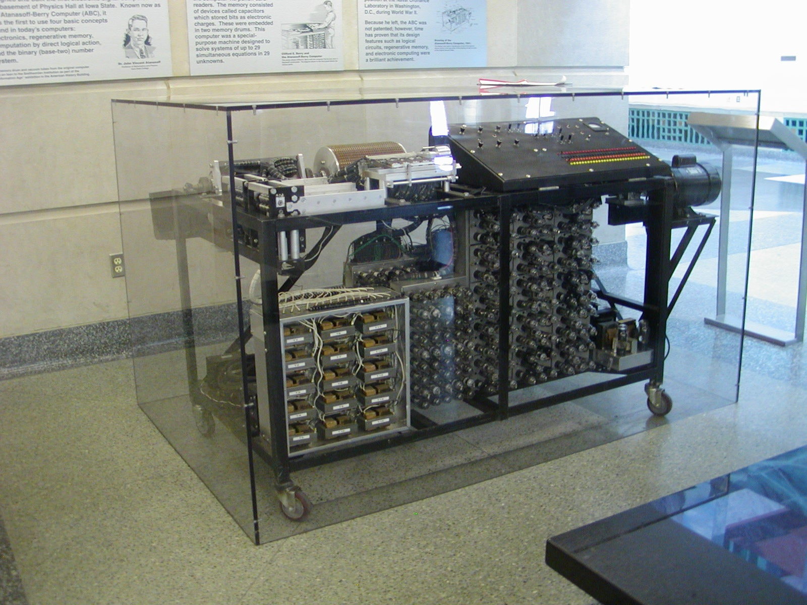 The Atanasoff-Berry Computer at Durham Center, Iowa State University (CC-licensed image by Manop http://commons.wikimedia.org/wiki/User:Manop)
