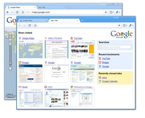 Una schermata di Google Chrome