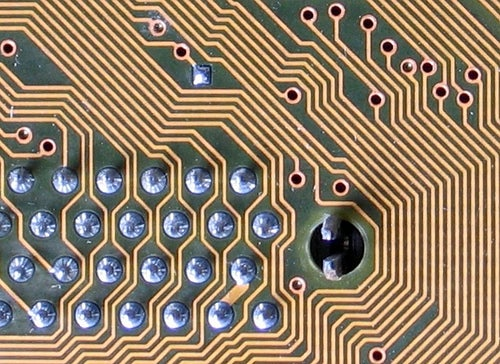 Image of circuit board lines