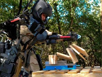 Raytheon, exoskeleton, robot, military