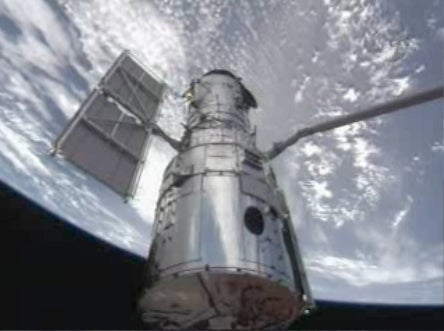 Hubble, Atlantis, robotic arm
