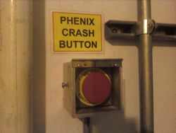 RHIC emergency button