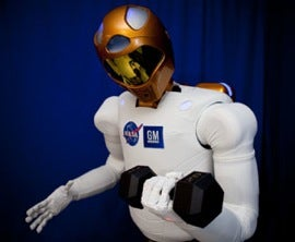 Robonaut 2, built by NASA and GM