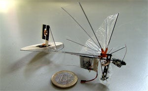 Robot dragonfly takes flight  Robot dragonfly