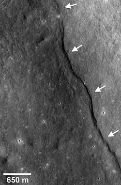 Thrust fault scarps on the moon as seen by LRO
