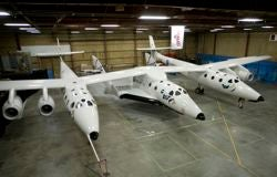SpaceShipTwo (SS2) in the hangar