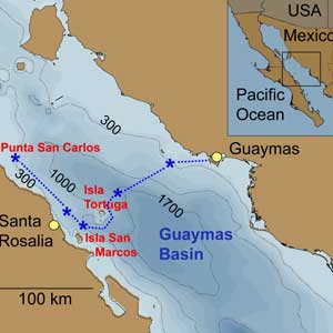 map of gulf of california and gilly