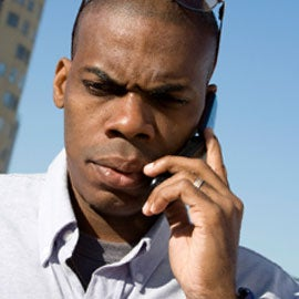man on cell phone, brain activity metabolism change