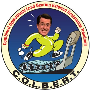 Colbert Report, Stephen Colbert, treadmill, NASA