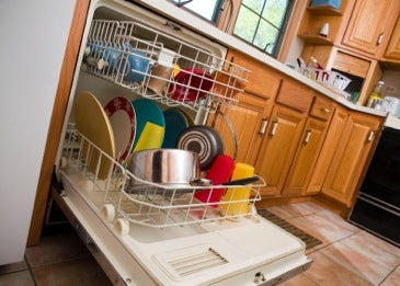 Dishwasher in a kitchen
