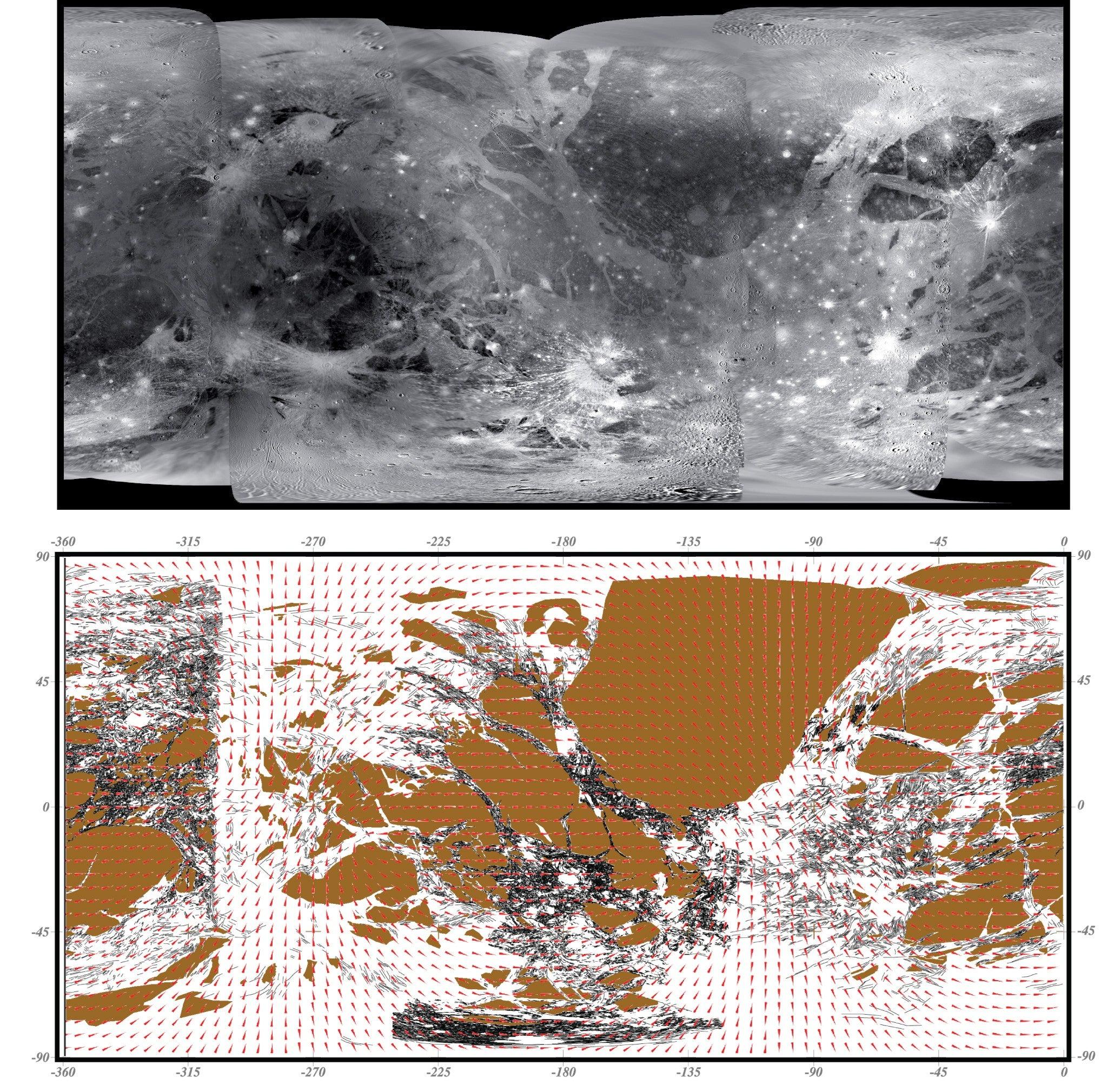 Global Views Wikipedia: Ganymede (moon)