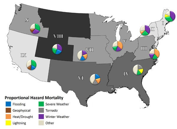 The HereAfter Report Natural Disaster Areas In America - Map natural disasters us