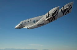 SpaceShipTwo test flight