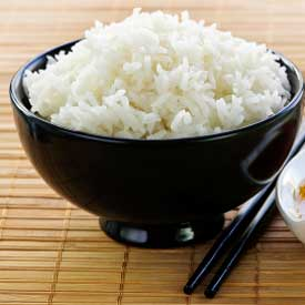 a bowl of white rice, many servings of white rice raises risk for diabetes while brown rice lowers it