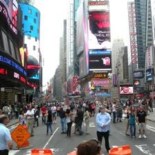 Times Square pedestrian plaza, New York City