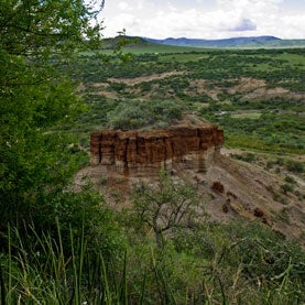 Olduvai Gorge - The Cradle of Mankind - archeological site where the first human remains were discovered in the Ngorongoro Conservation Area, Tanzania