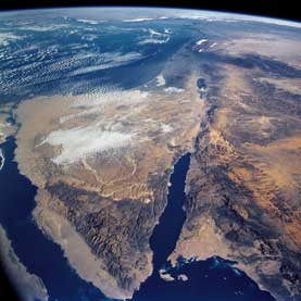 The Levant from space shuttle Columbia
