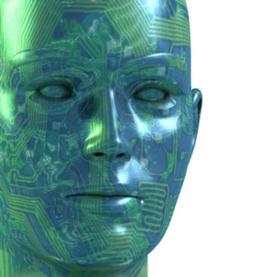 cyborg, robot, memory, erasing memories, face with computer circuits, computer circuits